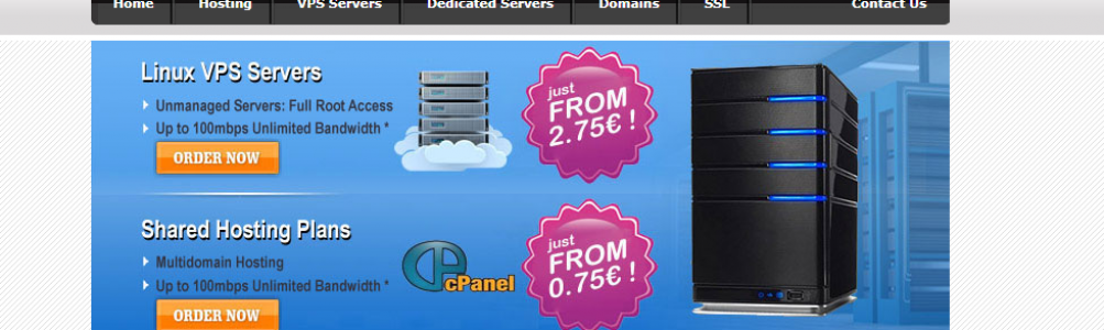 EUROPE Linux KVM VPS servers from just €2.75! 8GB RAM VPS just €3.45EUR! 16GB RAM VPS just €5.95!