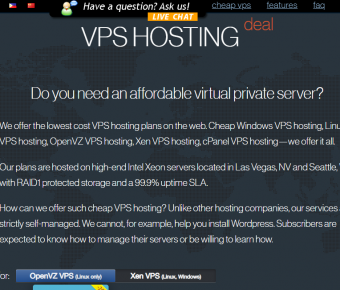 CHEAP CPANEL VPS ★ STARTING AT ONE DOLLAR PER MONTH ★ UNMETERED BW ★ Low Global Ping