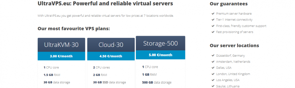 [DE/LT/MD/NL/UK/USA] Reliable KVM VPS, SAS and SSD Storage, from 2 EUR/m