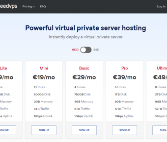 SeedVPS – VPS Hosting in Europe ─ Netherlands | KVM SSD | KVM Storage | 10Gbps NICs | From €9 /mo